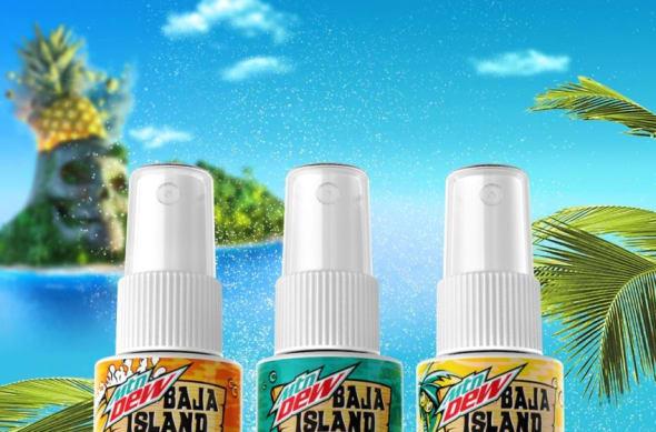 New MTN DEW Baja Blast flavor scents