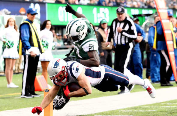 New York Jets and New England Patriots