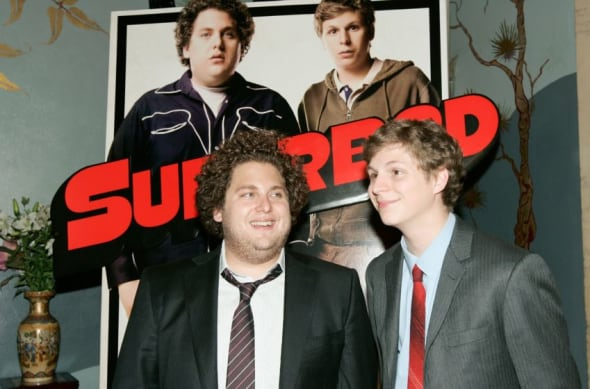 HOLLYWOOD - AUGUST 13: Actors Michael Cera (R) and Jonah Hill arrive at the premiere of Sony Pictures' 'Superbad' held at the Grauman's Chinese Theatre on August 13, 2007 in Hollywood, California. (Photo by Vince Bucci/Getty Images)