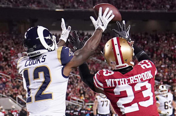 Brandin Cooks, Ahkello Witherspoon, Rams, 49ers