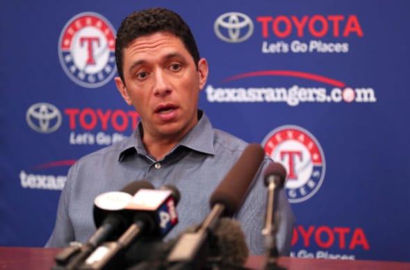 Texas Rangers GM Jon Daniels (Photo by Tom Pennington/Getty Images)