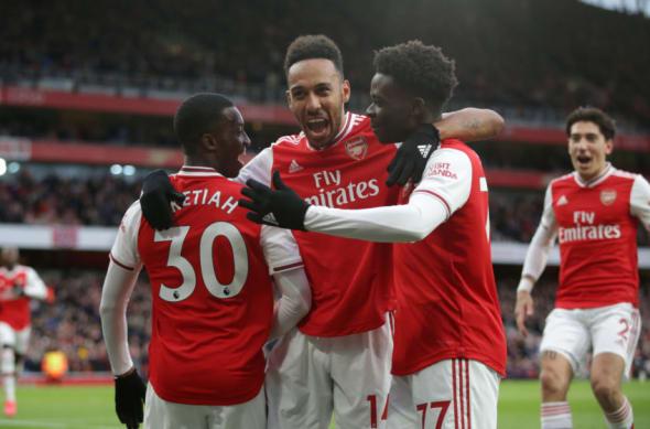 Arsenal, Bukayo Saka, Pierre-Emerick Aubameyang, Eddie Nketiah