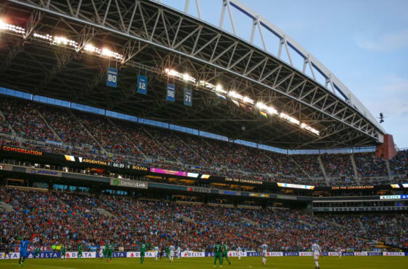 SEATTLE, WA - JUNE 14: A general view during the 2016 Copa America Centenario Group D match between Argentina and Bolivia at CenturyLink Field on June 14, 2016 in Seattle, Washington. (Photo by Otto Greule Jr/Getty Images)