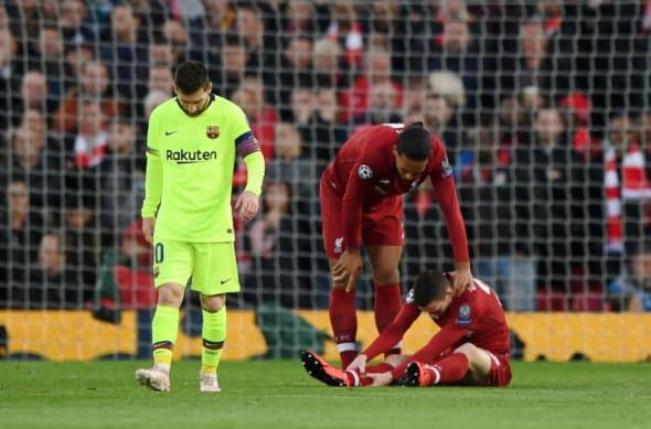Liverpool Injury Andy Robertson Mohamed Salah
