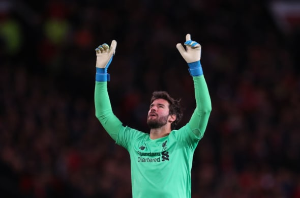 Liverpool Manchester United Alisson Becker player ratings