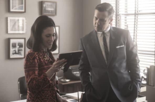 Cara Mantella as Jackie Loomis, Patrick Brammall as Werner Goss- Lodge 49 _ Season 2, Episode 6 - Photo Credit: Jackson Lee Davis/AMC