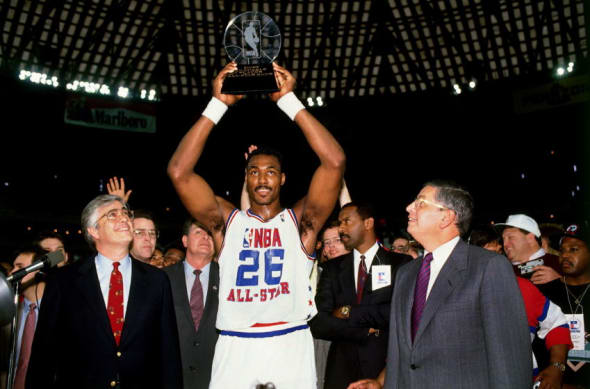 Utah Jazz Karl Malone All-Star MVP 1989