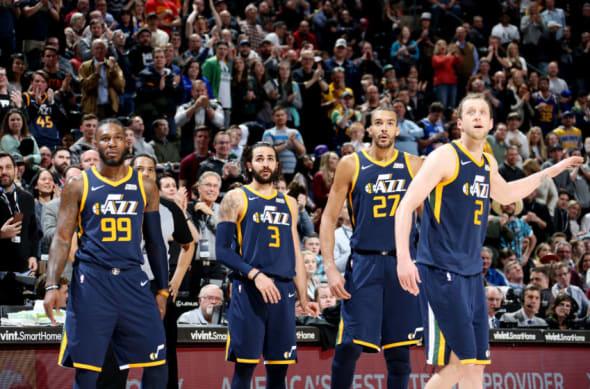 Utah Jazz 2018 Ricky Rubio Joe Ingles Rudy Gobert