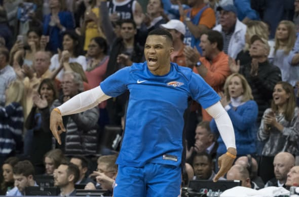 OKC Thunder point guard Russell Westbrook