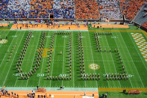 Oct 4, 2014; Knoxville, TN, USA; General view of Neyland Stadium before the game between the Florida Gators and Tennessee Volunteers. Mandatory Credit: Randy Sartin-USA TODAY Sports