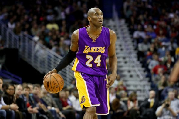 Jan 21, 2015; New Orleans, LA, USA; Los Angeles Lakers guard Kobe Bryant (24) against the New Orleans Pelicans during the first quarter of a game at the Smoothie King Center. Mandatory Credit: Derick E. Hingle-USA TODAY Sports