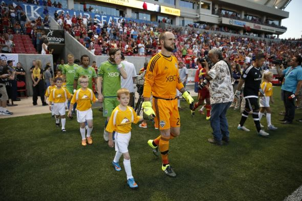 Seattle Sounders take the field against Real Salt Lake