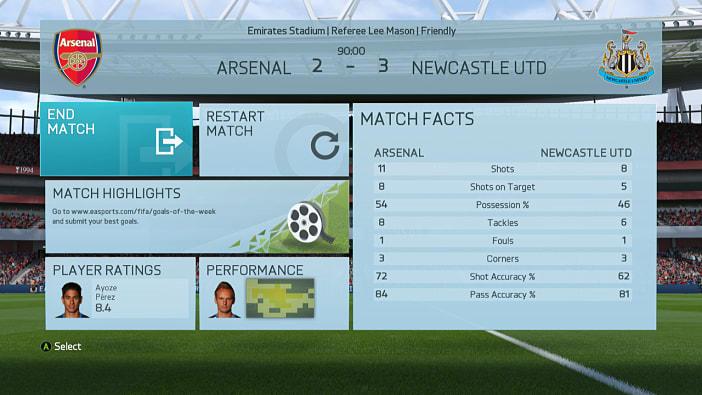 FIFA 16 predicts five Arsenal vs Newcastle results - Page 6