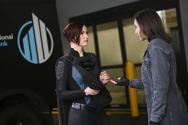 "Supergirl -- ""Alex in Wonderland"" -- Image Number: SPG516a_0033b.jpg -- Pictured (L-R): Chyler Leigh as Alex Danvers and Olivia Nikkanen as Young Alex -- Photo: Sergei Bachlakov/The CW -- © 2020 The CW Network, LLC. All rights reserved."