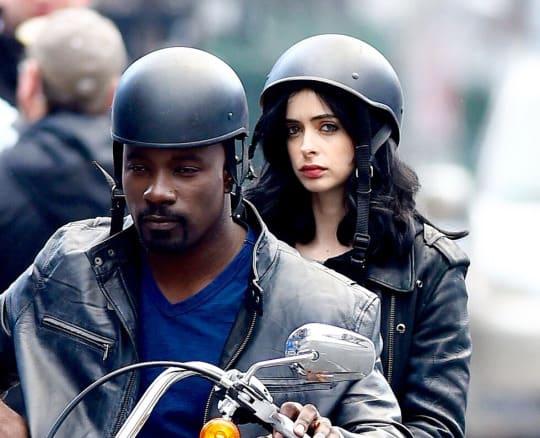 Krysten Ritter & Mike Colter as Jessica Jones & Luke Cage in Jessica Jones Photo: Netflix