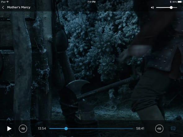 Podrick Payne reaches for his axe.