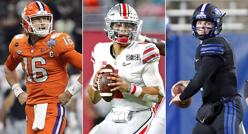 Trevor Lawrence, Justin Fields, Zach Wilson, 2021 NFL mock draft