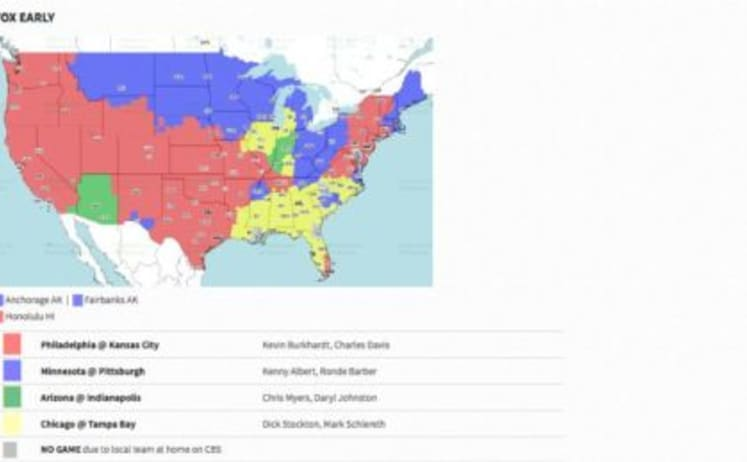 FOX early broadcast for NFL Week 2