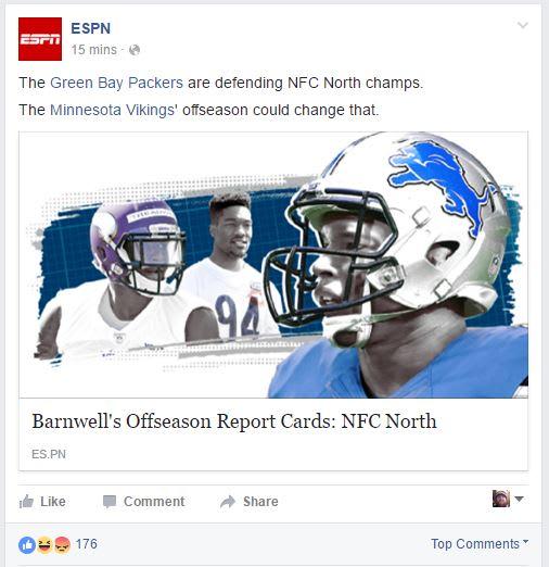 Minnesota Vikings Espn Posts Packers Won Division In 2015