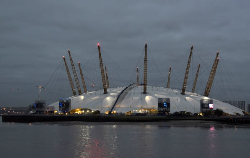 Oct 28, 2015; Londonl, United Kingdom; General view of the O2 Arena and the River Thames. Mandatory Credit: Kirby Lee-USA TODAY Sports