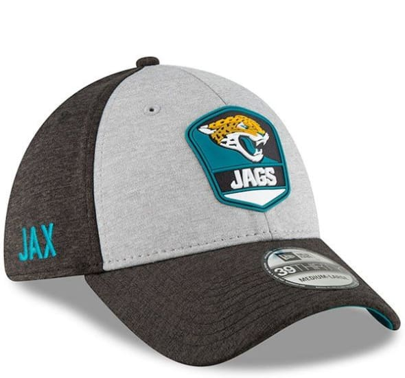 New Era NFL 2018//19 Sideline Road Jacksonville Jaguars 39THIRTY Stretch Fit Cap