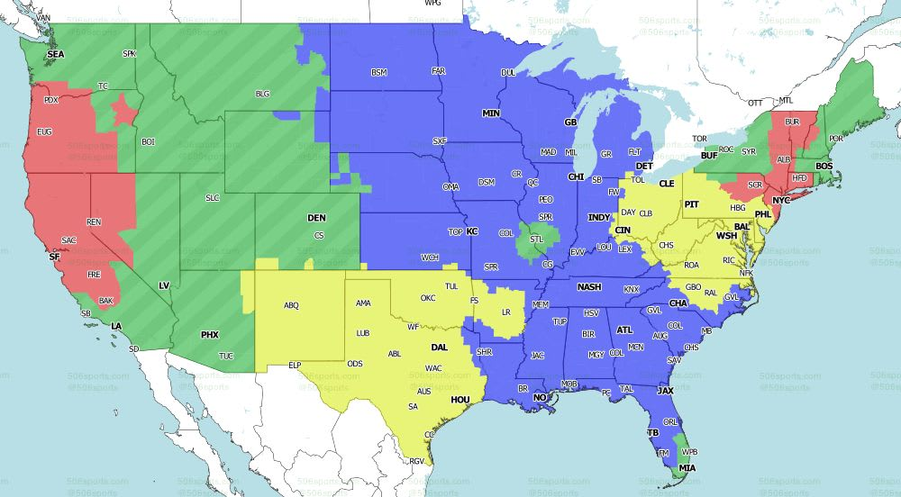 Nfl Coverage Map 2020 Tv Schedule Week 3