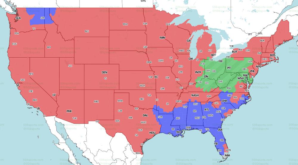 Nfl Coverage Map 2019 Tv Schedule Week 6