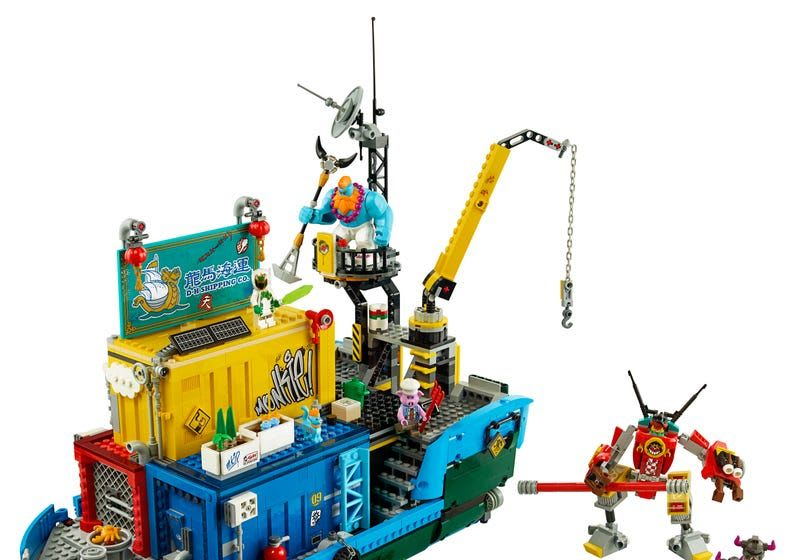Monkie Kid's Team Secret HQ Lego Set