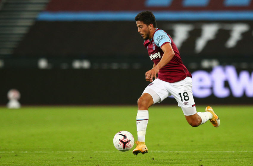 Pablo Fornals is currently playing as West Ham's left winger.
