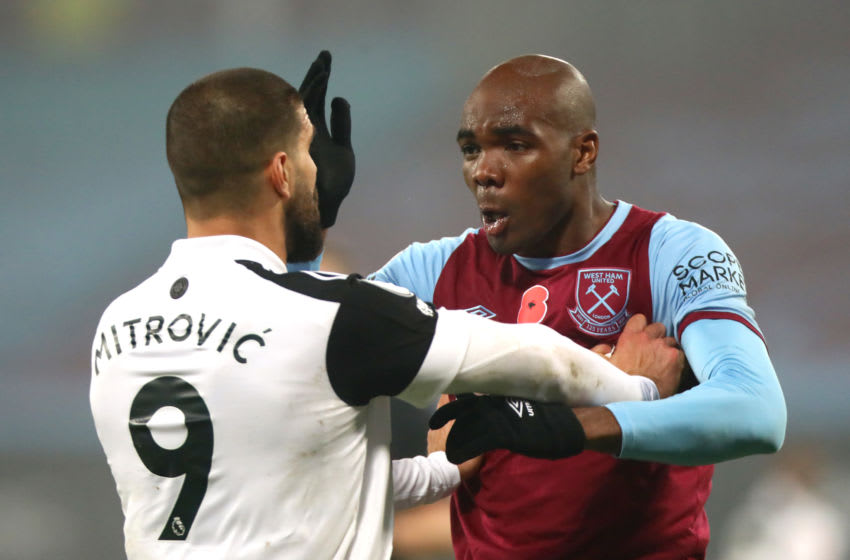 Angelo Ogbonna was injured in a challenge with Fulham striker Aleksandar Mitrovic.
