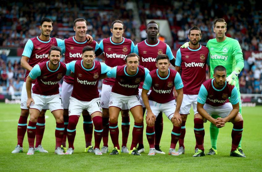 West Ham Europa League squad 2016.