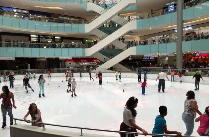 Skating at the Galleria