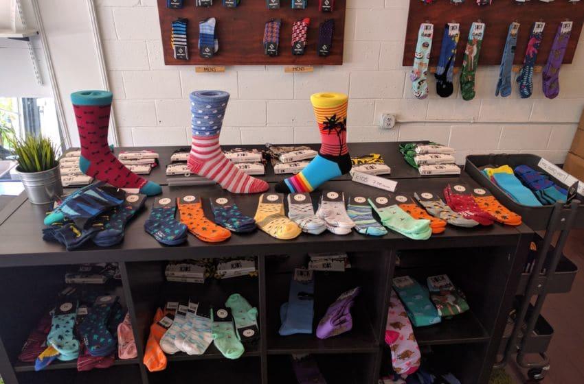 Socks on display at Sock Fancy. Photo credit: Tiffany M. Davis for Local POV.