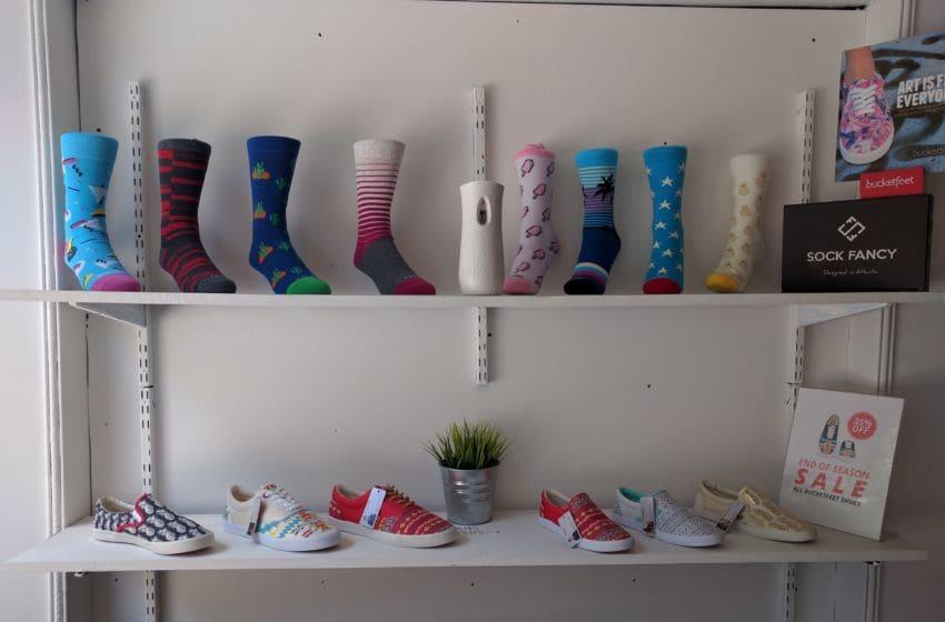 Sock Fancy socks and Bucketfeet shoes. Photo credit: Tiffany M. Davis for Local POV.