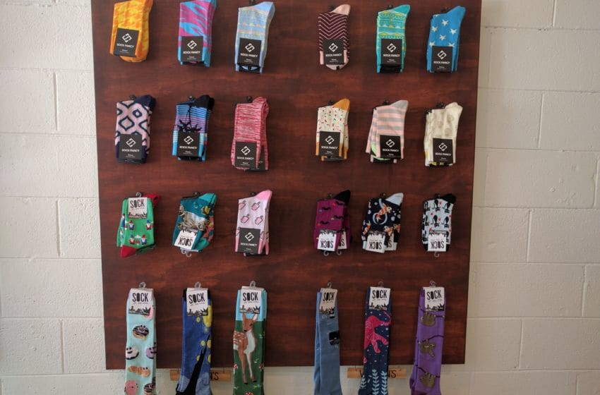 Women's socks at Sock Fancy. Photo credit: Tiffany M. Davis for Local POV.