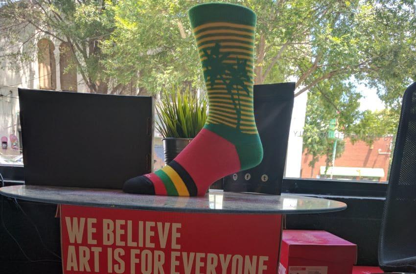 Sock Fancy designer socks. Photo credit: Tiffany M. Davis for Local POV.