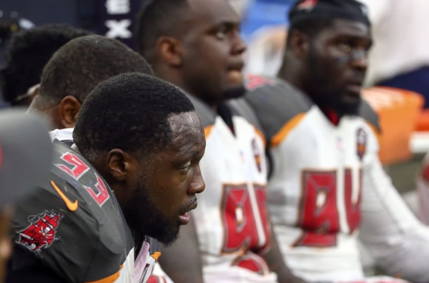 Sep 27, 2015; Houston, TX, USA; Tampa Bay Buccaneers defensive tackle <a rel=