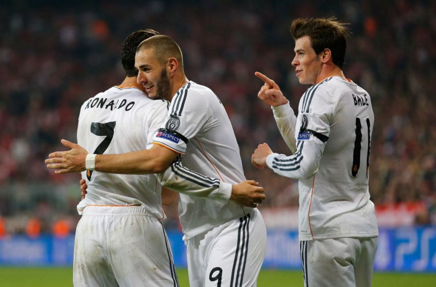 Real Madrid forwards Bale Benzema Cristiano