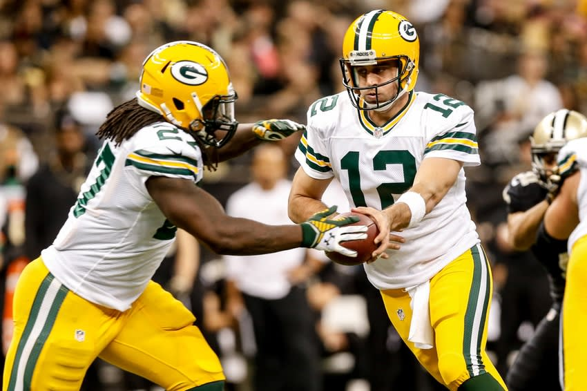 Aaron Rodgers and Eddie Lacy - two of the best draft picks by the Packers in the past 10 years. Derick E. Hingle-USA TODAY Sports photograph