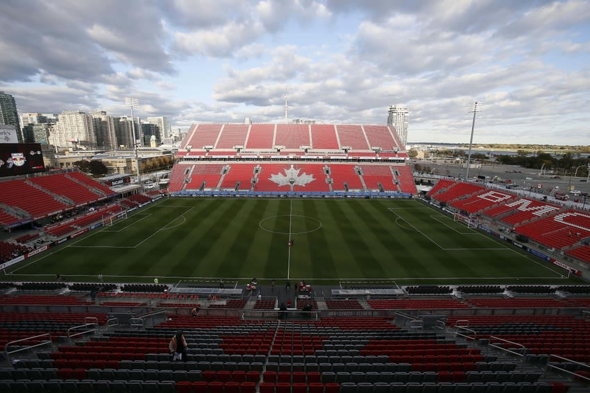 Oct 14, 2015; Toronto, Ontario, CAN; A general view of BMO Field prior to a game between New York Red Bulls and Toronto FC. Mandatory Credit: John E. Sokolowski-USA TODAY Sports