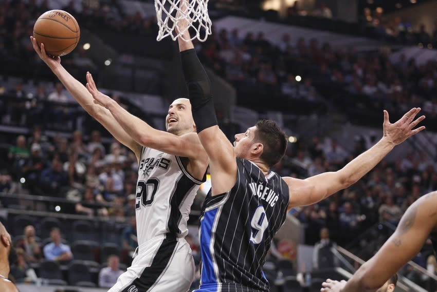 Nikola Vucevic, Orlando Magic, Manu Ginobili, San Antonio Spurs