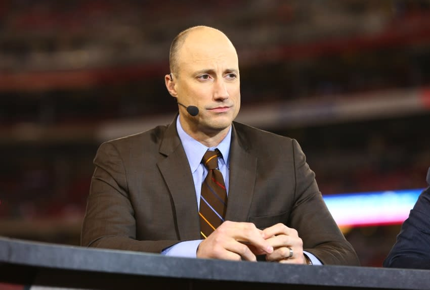 Apr 2, 2014; Glendale, AZ, USA; ESPN announcer Kasey Keller prior to the game between USA and Mexico during a friendly match at University of Phoenix Stadium. The game ended in a 2-2 tie. Mandatory Credit: Mark J. Rebilas-USA TODAY Sports