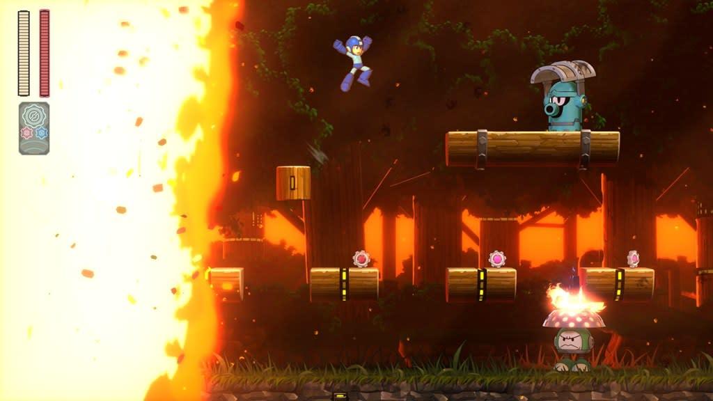 Mega Man 11 Fire Stage