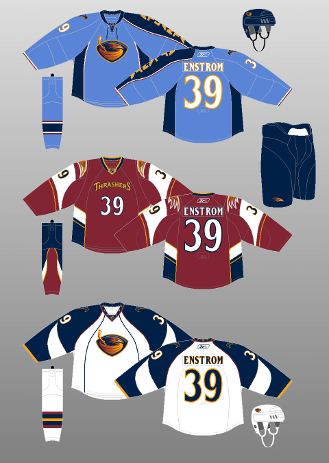 Amazon.com: Dresses Boutique NHL Atlanta Thrashers Men's Jersey T ...   675x480