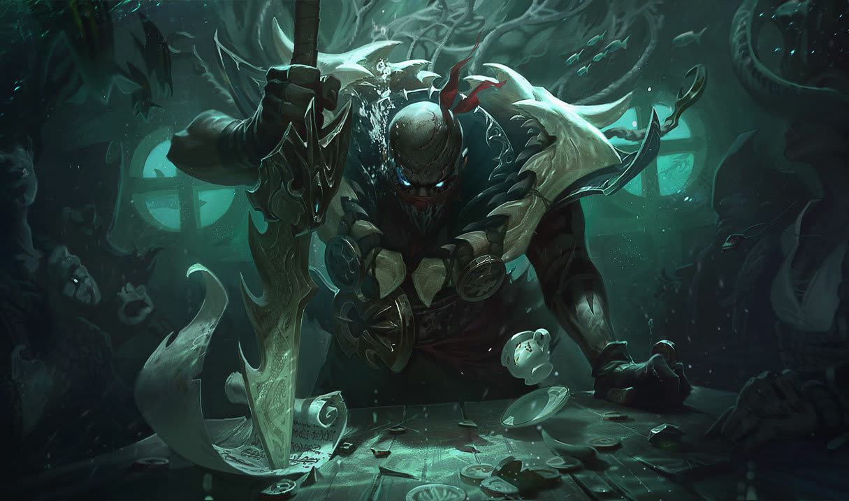 Pyke. League of Legends.