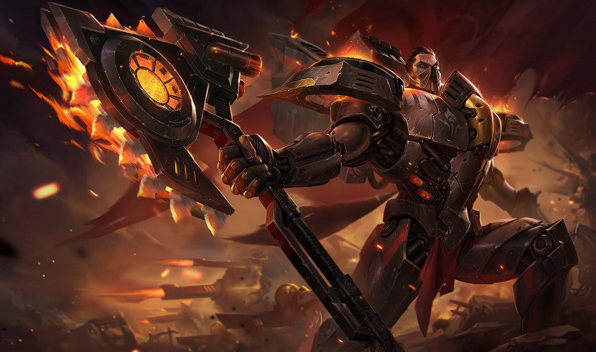 Dreadnova Darius, League of Legends.