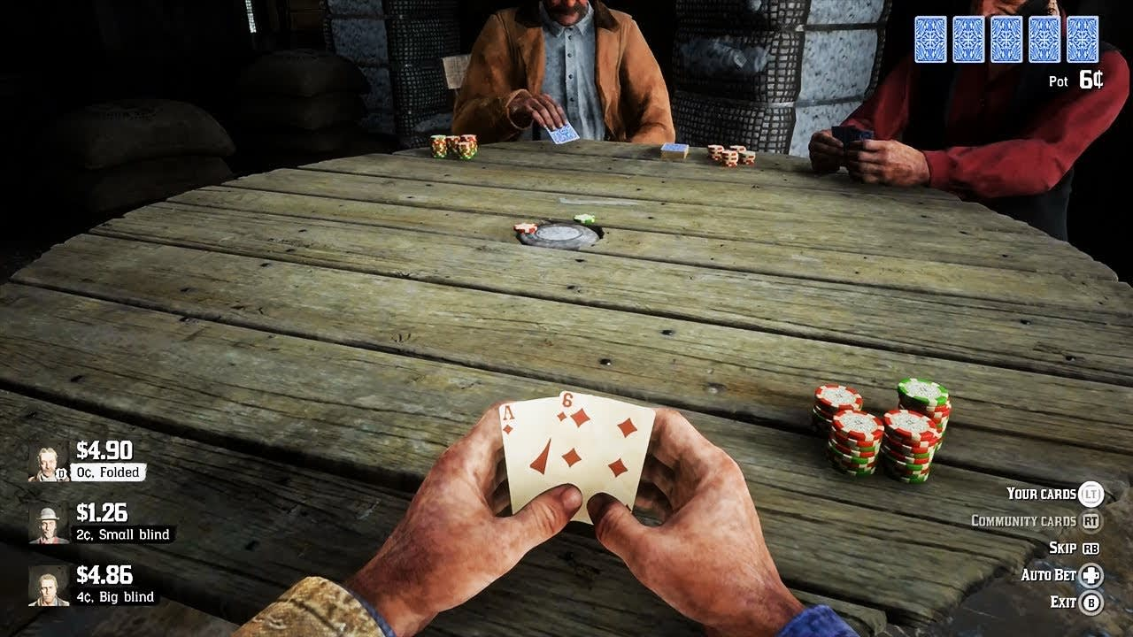 Red Dead Online Can I Play Poker Seen In Red Dead Redemption 2