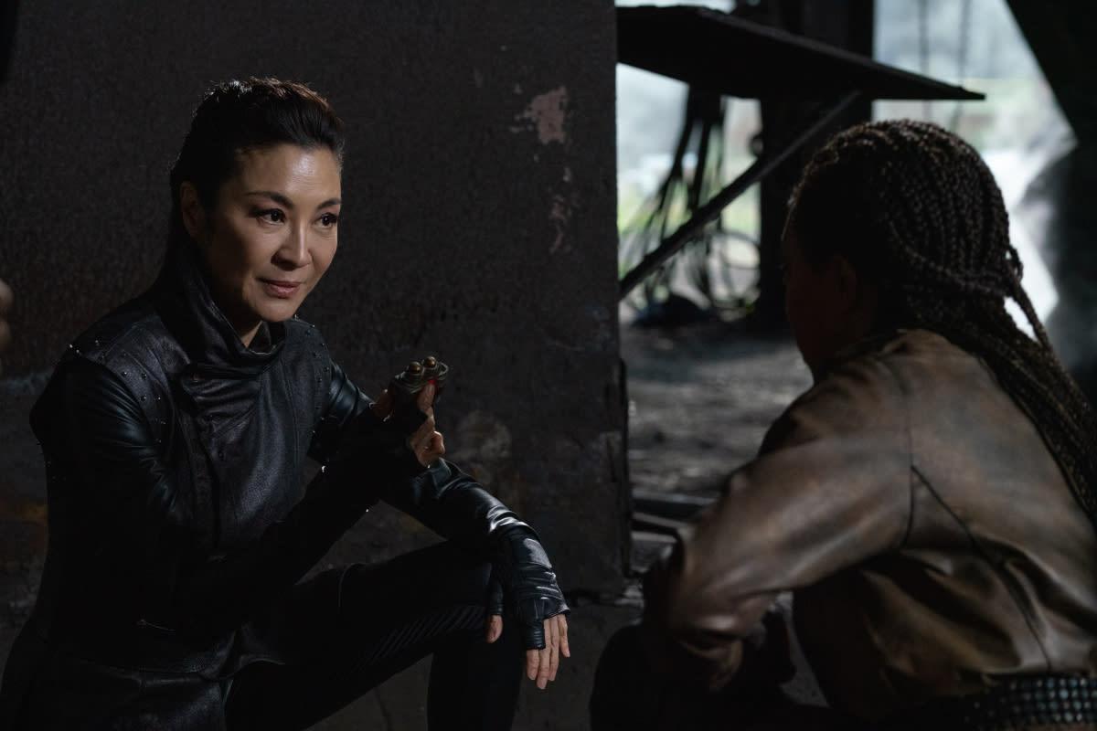 Michelle Yeoh as Georgiou and Sonequa Martin-Green on Star Trek: Discovery Season 3 Episode 6