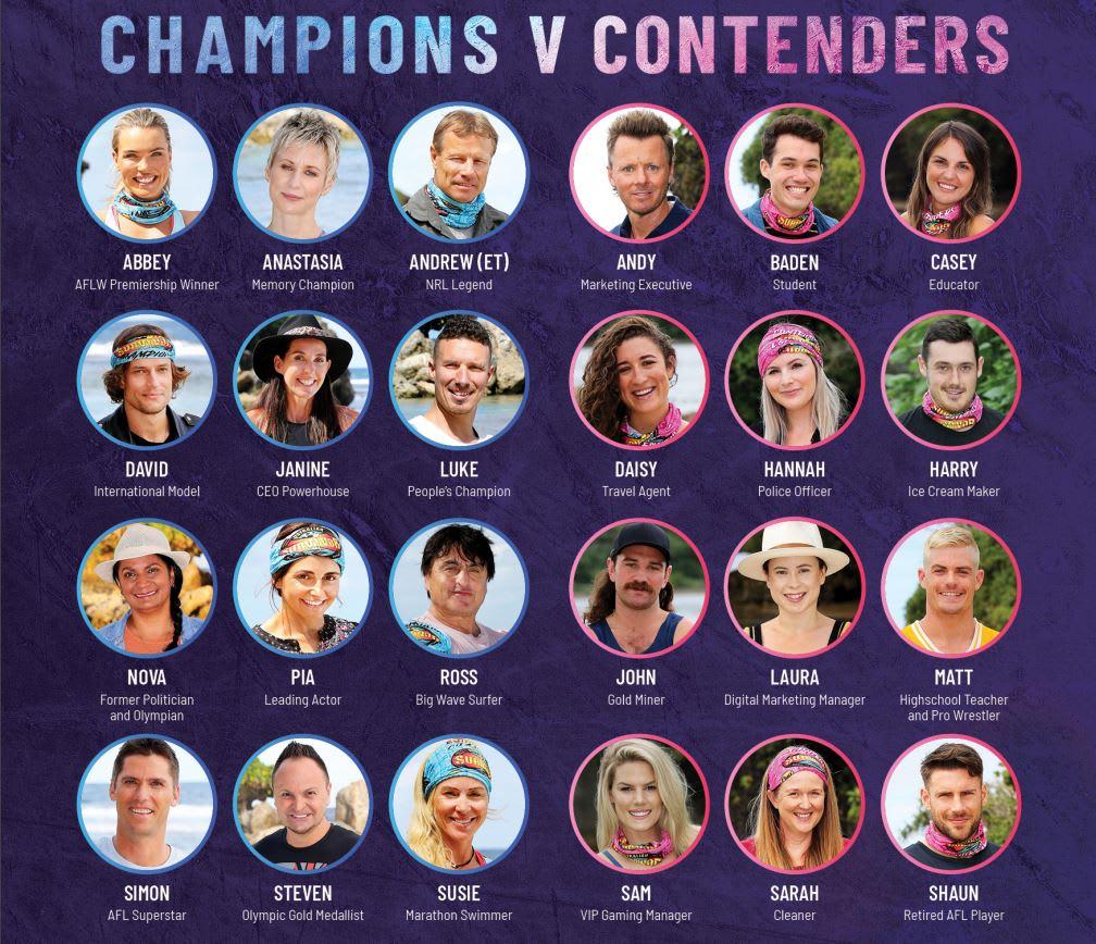 Australian Survivor 2019 full cast circles