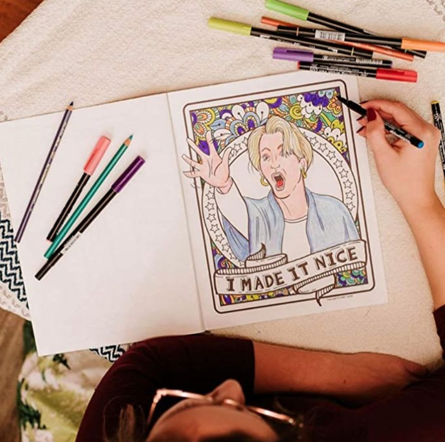 The Real Housewives of New York Adult Coloring Book available on Amazon.